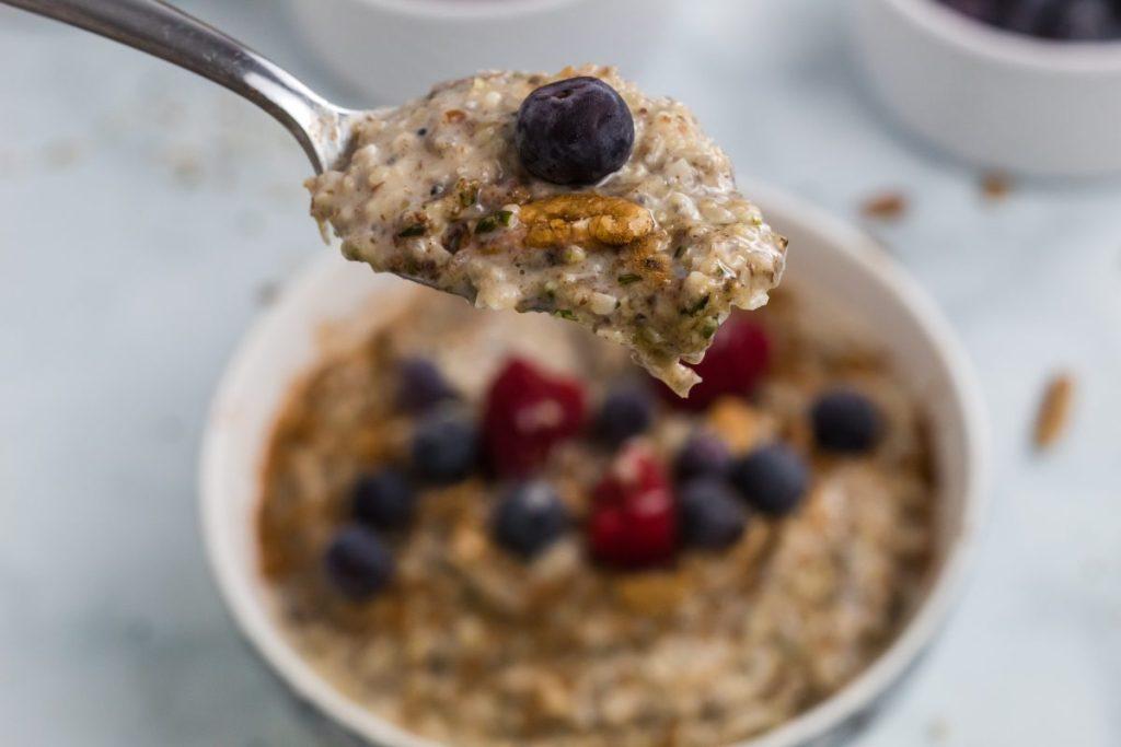 keto oatmeal spoonful