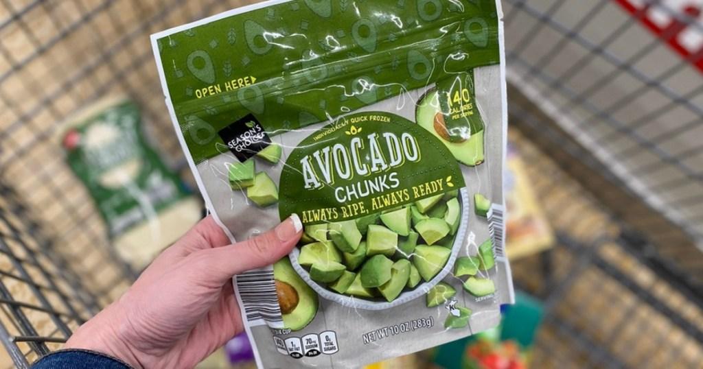 avocado chunks in bag from ALDI