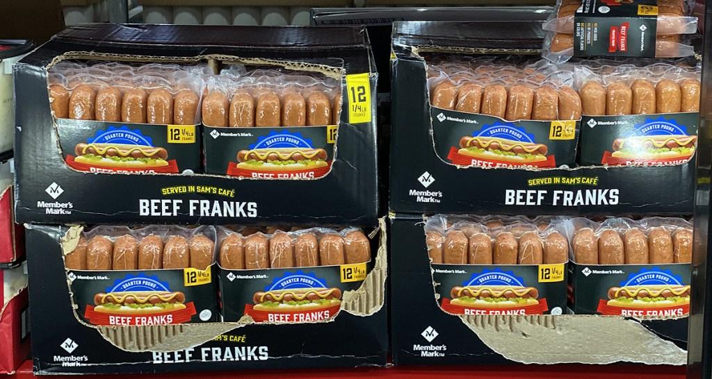 sam's beef franks