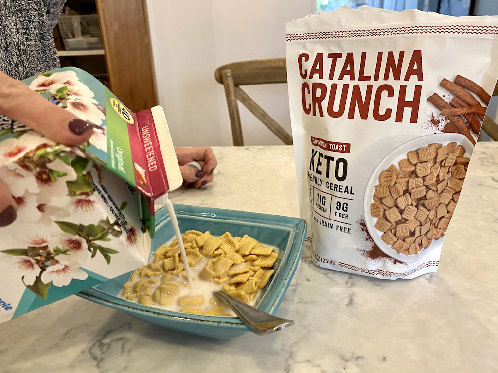 catalina crunch cereal in bowl