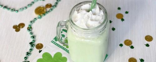 green keto shamrock shake