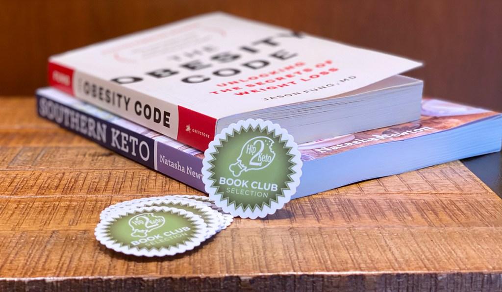 hip2keto book club stickers