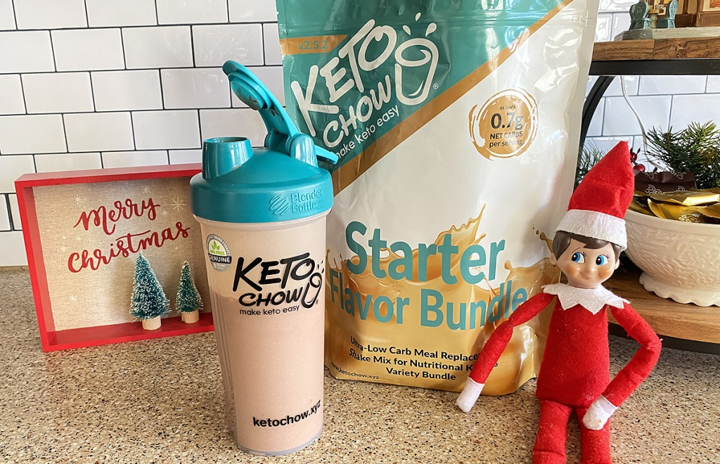 keto chow starter bundle on counter