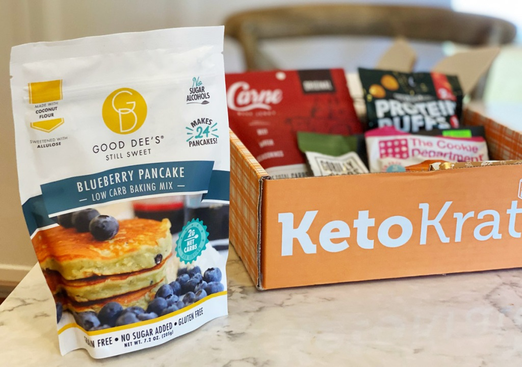 keto krate snacks on counter