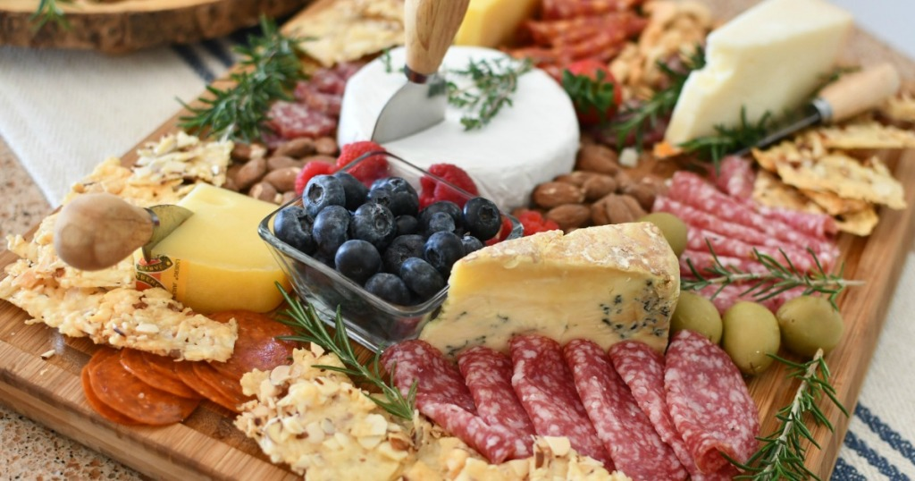 keto charcuterie meat and cheese board