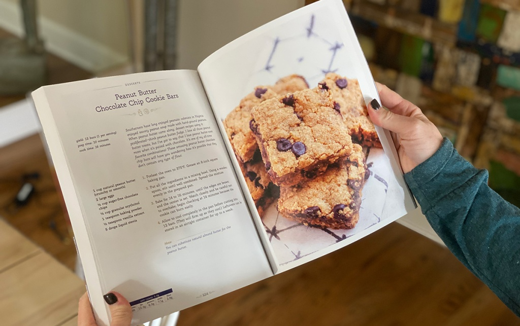 cookie bar recipe in southern keto cook book