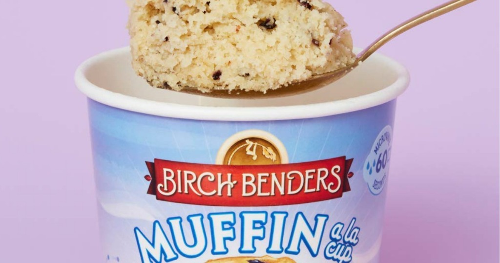Birch Benders keto muffin cup on spoon