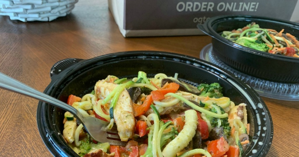 Olive Garden to-go zoodles bowl