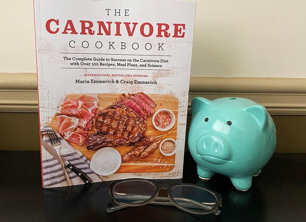 carnivore cookbook on table