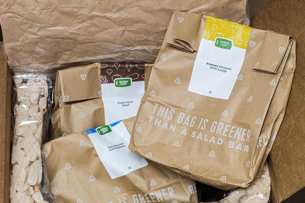 green chef keto box packaging