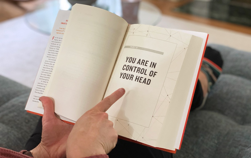 """page open in head strong book """"You Are In Control of Your Head"""""""