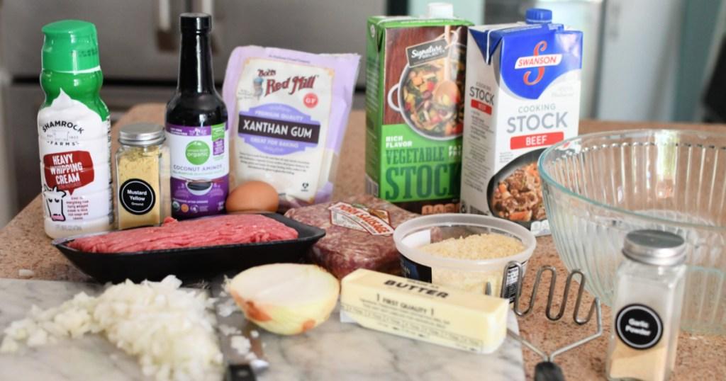 ingredients for keto ikea swedish meatballs