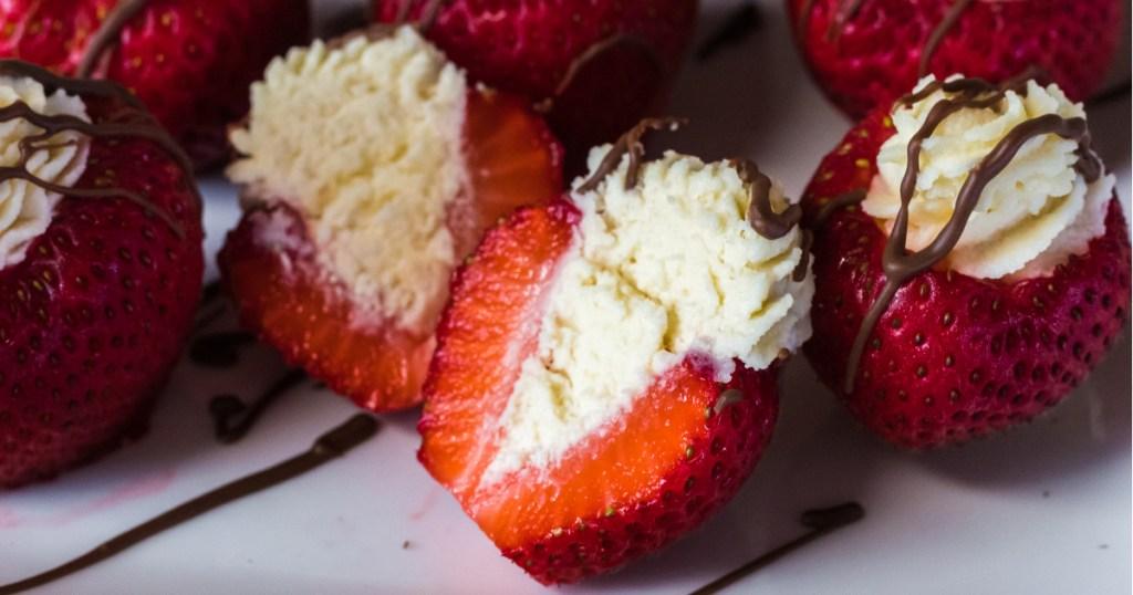 look inside a stuffed strawberry