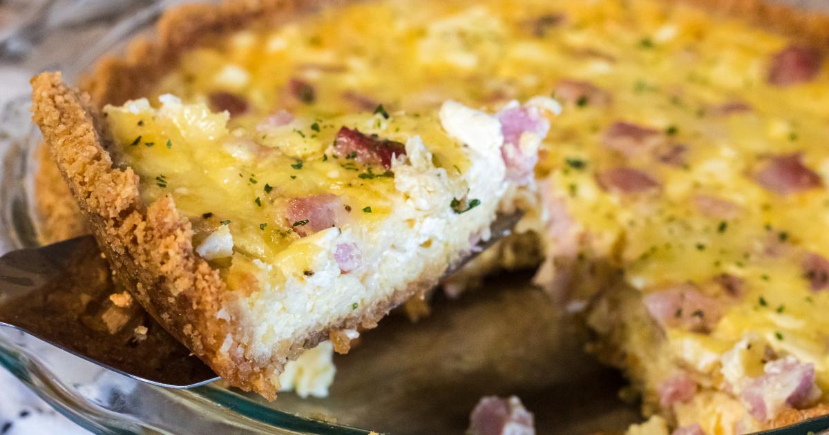 a slice of carnivore quiche