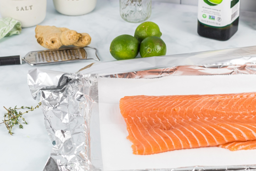 ingredients for salmon recipe from Maria Mind Body Health
