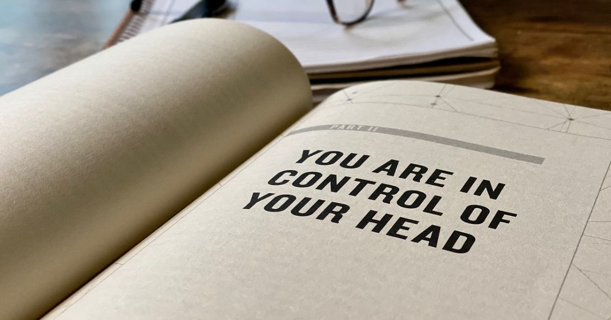 """Head Strong book open to part 2 """"You Are in Control of Your Head"""""""