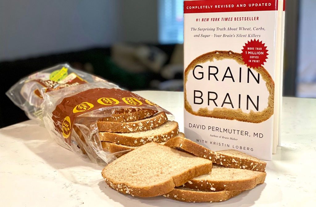 grain brain book with bread