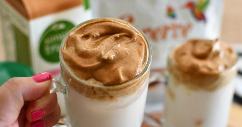 whipped dalgona coffee