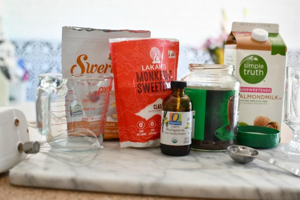 ingredients to make dalgona coffee