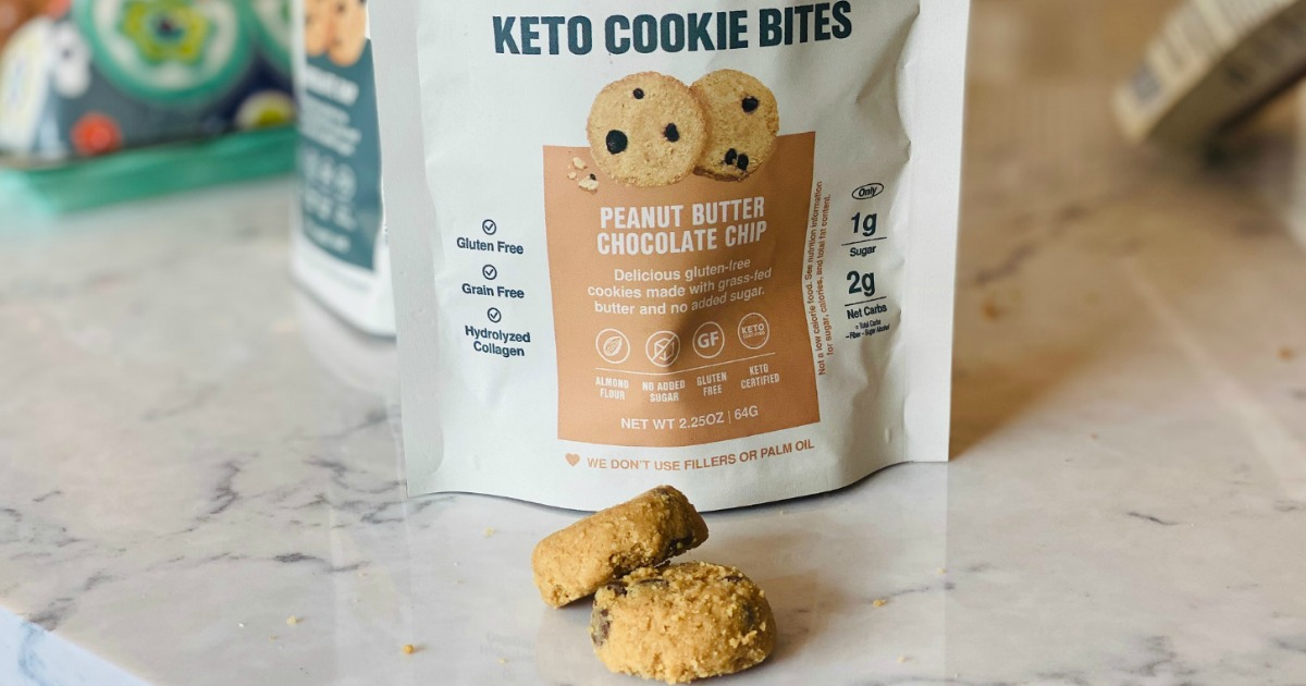 Superfat keto cookie bites on counter
