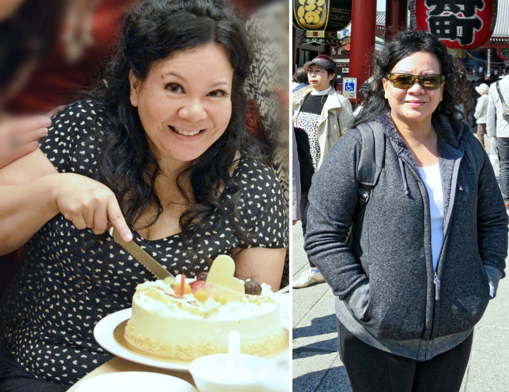 woman before keto diet
