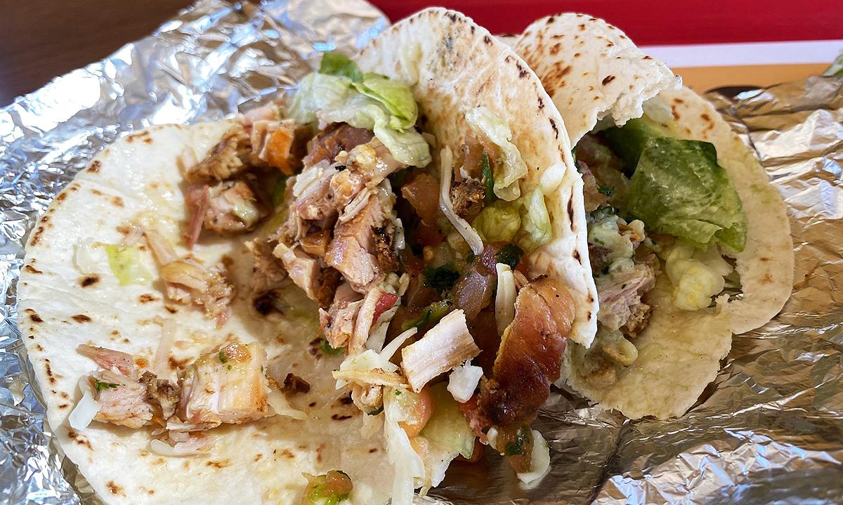 El Pollo Loco Keto Taco with all the fixings