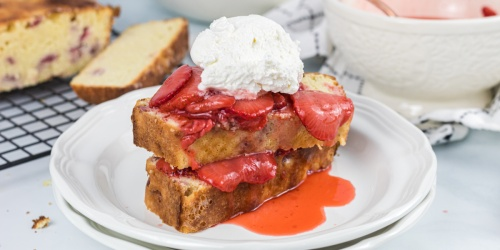 Keto Strawberry Shortcake with Strawberry-Infused Pound Cake