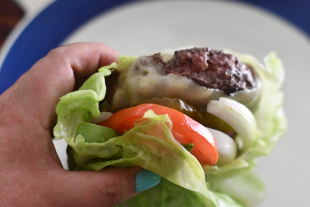burger in a cabbage wrap