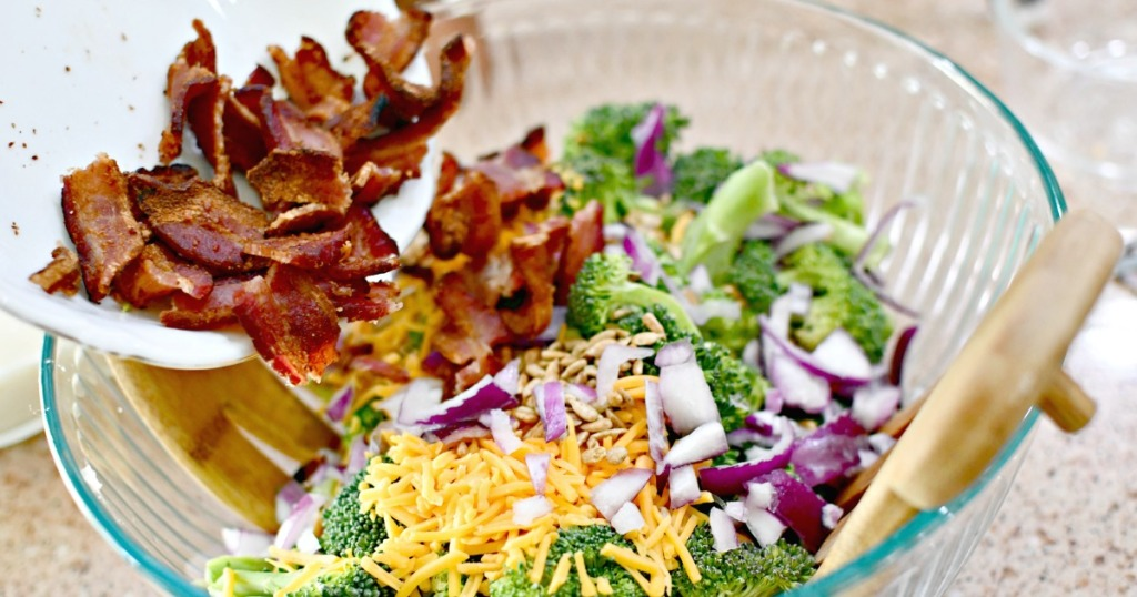 bacon in a bacon broccoli salad