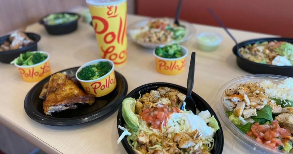 El Pollo Loco keto menu items on table