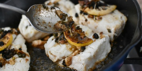 Pan-Seared Halibut with Lemon Butter Caper Sauce (This No-Fail Recipe is a Must Try!)