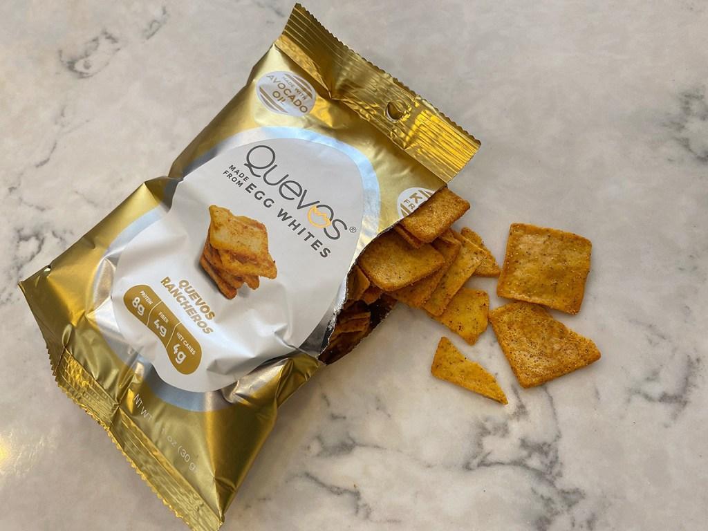 quevos egg whites chips bag