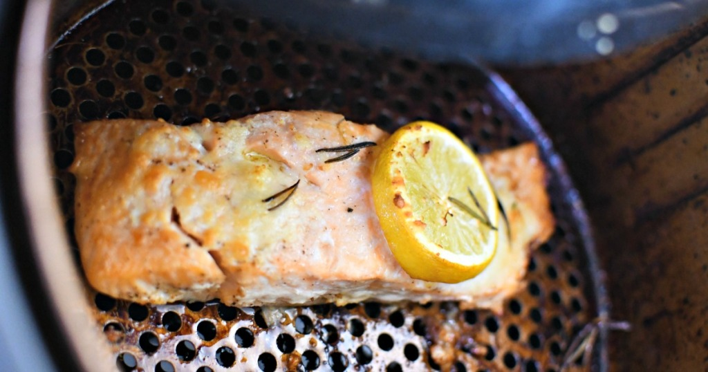 reheating salmon in air fryer