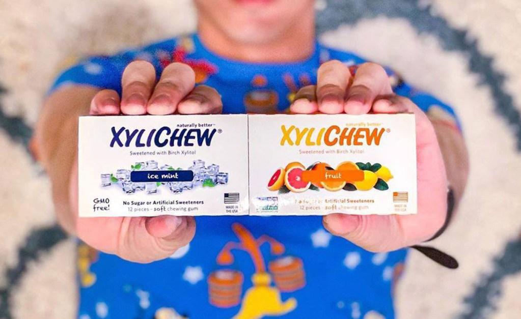 hands holding keto gum