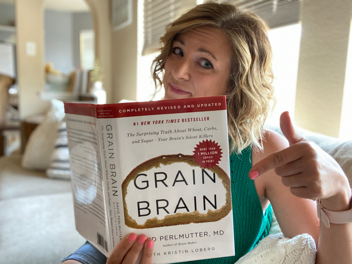 girl with Grain Brain book