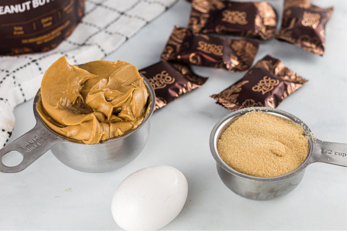 peanut butter, egg, and keto sweetener