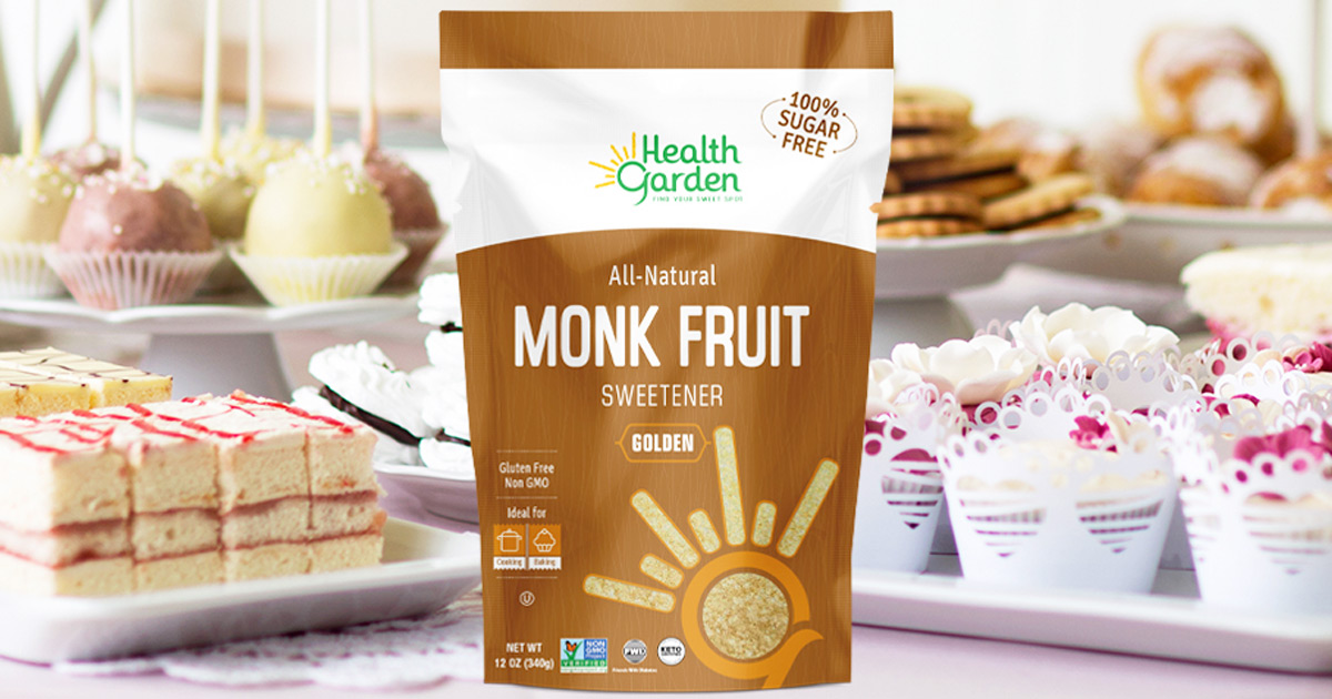 Get 40% Off Health Garden Monk Fruit Sweetener on Amazon | Keto-Friendly & Highly Rated