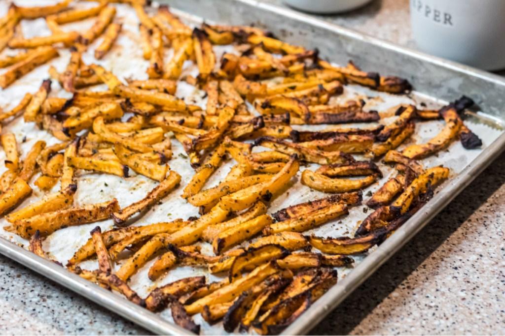 cooked rutabaga fries