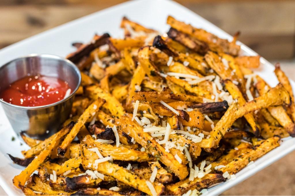 Plate of rutabaga fries