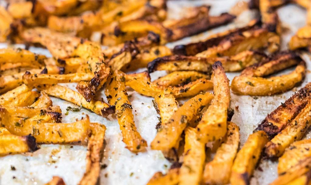 Rutabaga Fries on plate