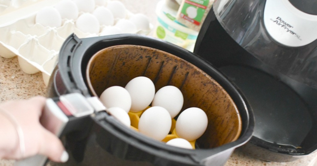 cooking hard-boiled eggs in the air fryer