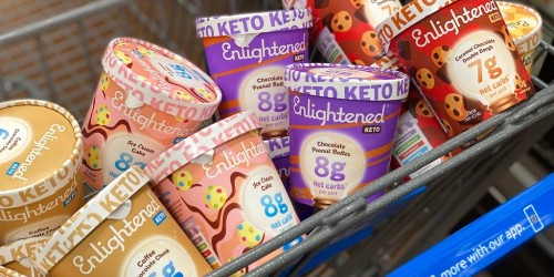 You Can Score Enlightened Keto Ice Cream Pints & Bars for Under $5 at Walmart!