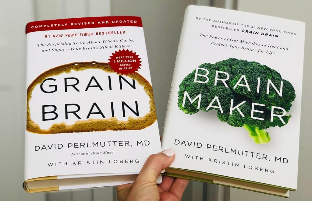 grain brain and grain maker books in hand
