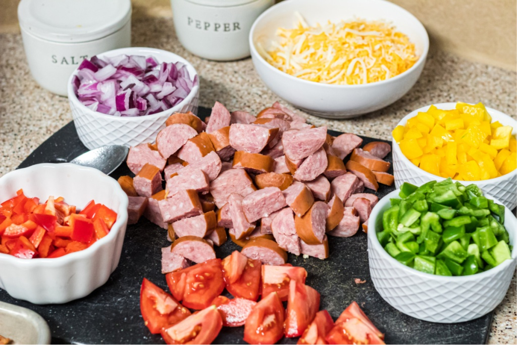 ingredients for keto sheet pan breakfast