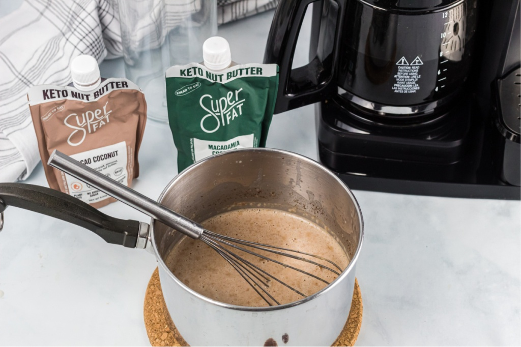 saucepan with creamer