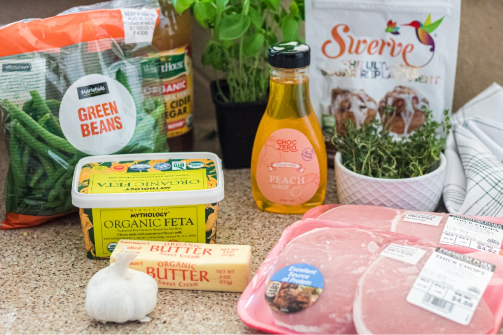 ingredients for peach pork chops