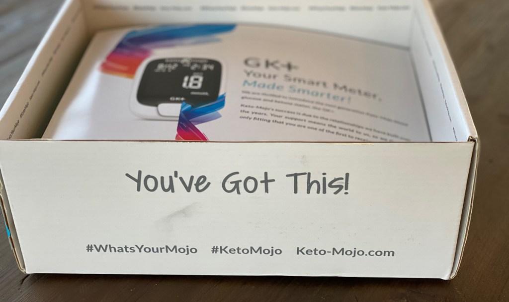 """""""you got this"""" text on keto mojo box"""