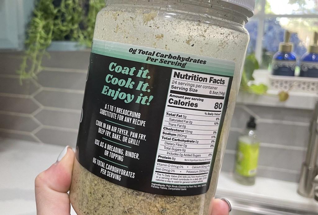 pork king good crumbs nutrition labels