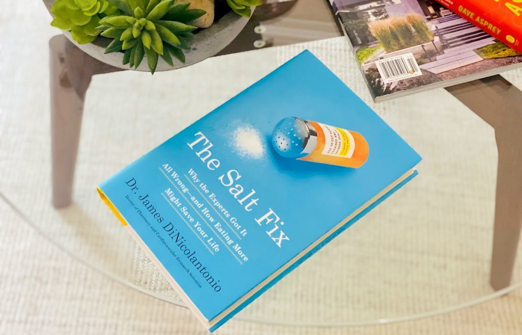 the salt fix book on glass coffee table