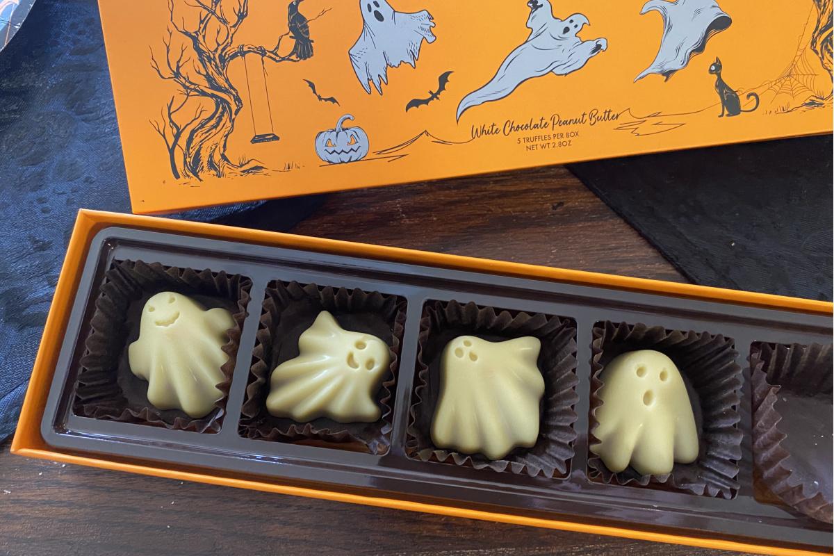 ChocZero keto ghost shaped candy